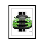 New Mustang Green Framed Panel Print