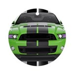 New Mustang Green Ornament (Round)