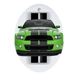 New Mustang Green Ornament (Oval)