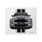 New Mustang GT Gray Throw Blanket