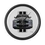 New Mustang GT Gray Large Wall Clock