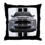 New Mustang GT Gray Throw Pillow