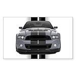 New Mustang GT Gray Sticker (Rectangle 50 pk)