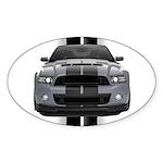 New Mustang GT Gray Sticker (Oval 50 pk)