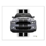 New Mustang GT Gray Small Poster