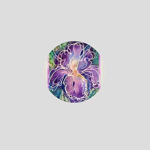 Iris, floral, art, Mini Button