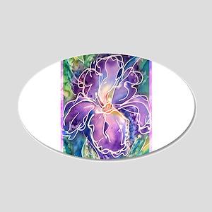 Iris, floral, art, 22x14 Oval Wall Peel