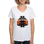 New Mustang GT Orange Women's V-Neck T-Shirt