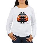 New Mustang GT Orange Women's Long Sleeve T-Shirt
