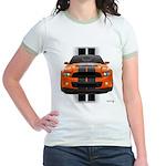 New Mustang GT Orange Jr. Ringer T-Shirt
