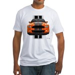 New Mustang GT Orange Fitted T-Shirt