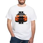 New Mustang GT Orange White T-Shirt