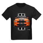 New Mustang GT Orange Kids Dark T-Shirt