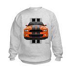 New Mustang GT Orange Kids Sweatshirt