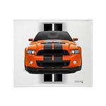 New Mustang GT Orange Throw Blanket