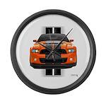 New Mustang GT Orange Large Wall Clock