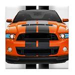 New Mustang GT Orange Tile Coaster