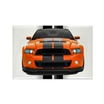 New Mustang GT Orange Rectangle Magnet (10 pack)