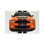 New Mustang GT Orange Rectangle Magnet