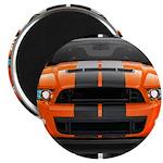 New Mustang GT Orange Magnet