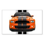 New Mustang GT Orange Sticker (Rectangle 50 pk)