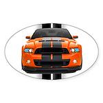 New Mustang GT Orange Sticker (Oval 50 pk)