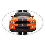 New Mustang GT Orange Sticker (Oval 10 pk)