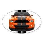 New Mustang GT Orange Sticker (Oval)