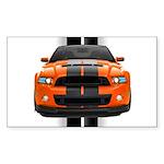 New Mustang GT Orange Sticker (Rectangle)