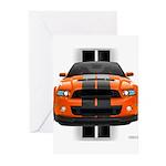 New Mustang GT Orange Greeting Cards (Pk of 20)