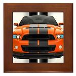 New Mustang GT Orange Framed Tile