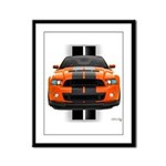 New Mustang GT Orange Framed Panel Print