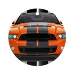 New Mustang GT Orange Ornament (Round)