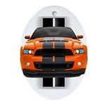 New Mustang GT Orange Ornament (Oval)