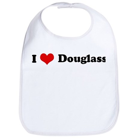 I Love Douglass Bib