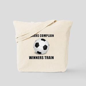 Soccer Winners Train Tote Bag