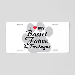 Basset Fauve de Bretagne Aluminum License Plate