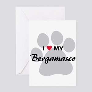 I Love My Bergamasco Greeting Card