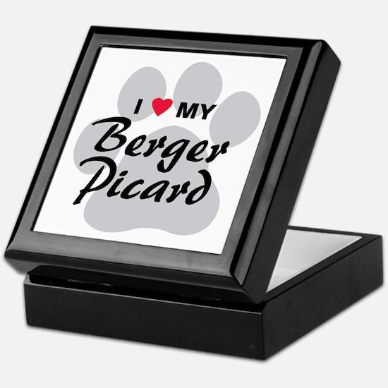 I Love My Berger Picard Keepsake Box