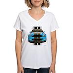 New Mustang Blue Women's V-Neck T-Shirt
