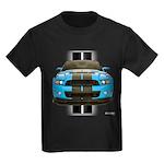 New Mustang Blue Kids Dark T-Shirt