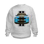 New Mustang Blue Kids Sweatshirt