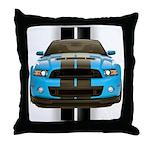 New Mustang Blue Throw Pillow