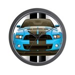 New Mustang Blue Wall Clock