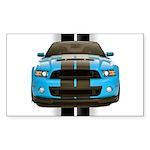 New Mustang Blue Sticker (Rectangle 10 pk)