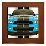 New Mustang Blue Framed Tile