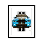 New Mustang Blue Framed Panel Print