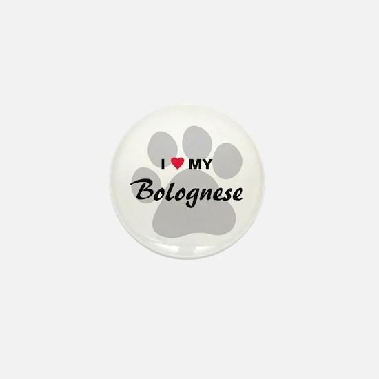 I Love My Bolognese Mini Button