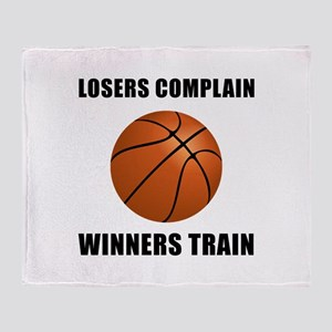 Basketball Winners Train Throw Blanket