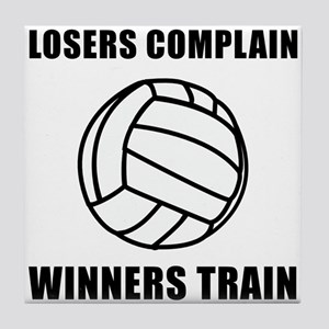 Volleyball Winners Train Tile Coaster
